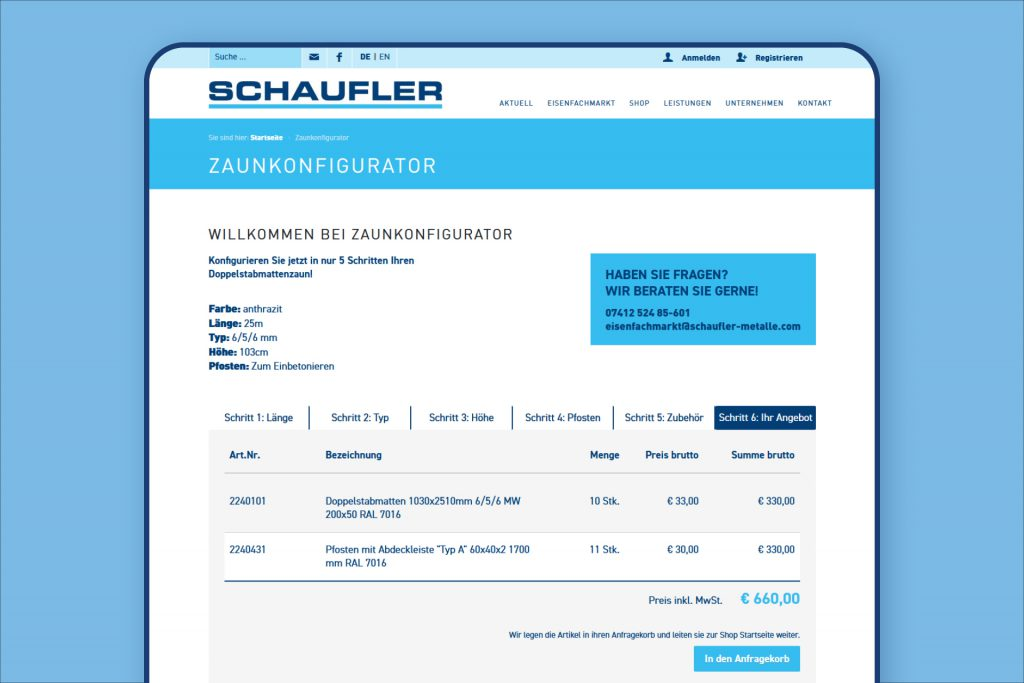 schaufler-zaunkonfigurator